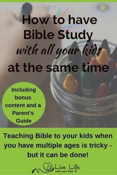 Family Bible study can be tricky when we have kids at different ages and stages, but with using these 8 keys it is possible. Bonus Parent Guide included.