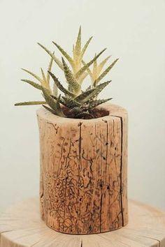 10 ideas para utilizar troncos de madera en la decoración.