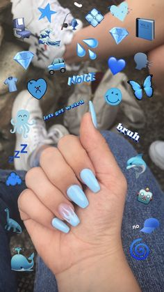 my nails 💙 baby blue flame coffin gel acrylic nails<br> Acrylic Nails Coffin Short, Blue Acrylic Nails, Simple Acrylic Nails, Square Acrylic Nails, Summer Acrylic Nails, Simple Nails, Blue Coffin Nails, Acrylic Tips, Ongles Baby Blue