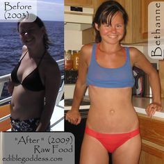 (Before & After) :: This woman's incredible story here (with more photos): http://ediblegoddess.com/2012/08/bethannes-before-after/