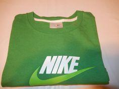 985bae96e7e58 Vintage Nike Graphic Cotton T-shirt Green Neon White Large Swoosh  Nike   GraphicTee