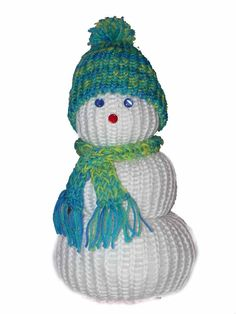 Knifty Knitter Snowman (Green, Red, and Blue Round Looms)