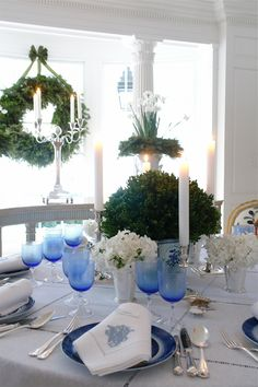 Carolyn Roehm Especially thoughtful for blended families celebrating Christmas with Hanukkah which is blue and other religions during this time a beautiful classic design that could be used for celebrations to come