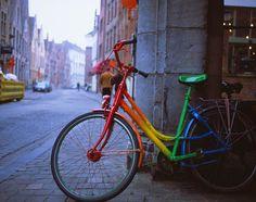 Rainbow bike to combat the city grays.