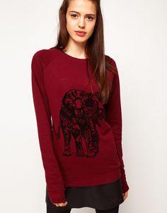ASOS Sweatshirt with Elephant Flocking