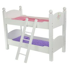 Teamson Kids Little Princess Doll Double Bunk Bed - TD-0095A