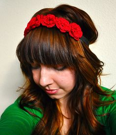 Ravelry: The Crochet Flower Crown pattern by Sara Dudek, free download xox