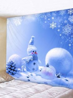 OFF] 2019 Christmas Snowman Printed Wall Hanging Tapestry In Multicolor F Trippy Tapestry, Tapestry Nature, Moon Tapestry, Tapestry Bedroom, Mandala Tapestry, Tapestry Crochet, Tapestry Beach, Ceiling Tapestry, Tapestry Wall Hanging