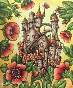 Klara Markova's Magical Delights (Carovne Lahodnosi) - Fairy Castle (You have to look carefully behind the flowers if you want to see where the garden fairies live. And if you're lucky enough you might see one flying around!