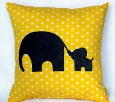 I really really want to make this pillow.  So cute! & I absolutely love elephants!