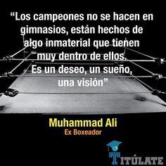 Muhammad Ali #Campeones #MuhammadAli #Visión Frase http://ift.tt/1AWJnsj