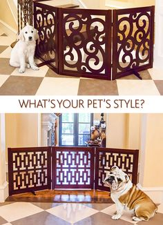 Which pet gate best suits your dog? Whichever you choose, a stylish pet gate is a great way to keep your furry friend out of the nicer rooms in your home.