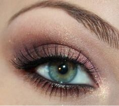 Look 1- pink + bronze - love the colors