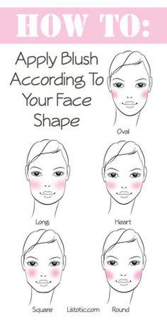 How to apply blush according to your face shape كيفية وضع أحمر الخدود حسب شكل وجهك #TipOfTheDay #AlDealer #AlDealerDotCom #MakeUp #face_shape