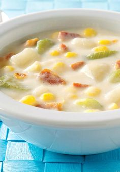 Sassy Potato Corn Chowder -- This recipe has every reason to be sassy, if not downright arrogant. It's yummy, easy, quick-to-make and a better-for-you choice, too.