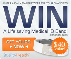 Win a Medical ID Bracelet Sweepstakes!