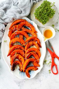 These Spicy Roasted Hokkaido Pumpkin Wedges are a simple, healthy, and delicious vegetarian side dish. Made with thin-skinned pumpkin also known as red kuri squash, the skin is edible which makes preparation a cinch for this hokkaido pumpkin recipe. Veggie Recipes Healthy, Tasty Vegetarian Recipes, Healthy Vegetables, Healthy Dishes, Vegetarian Comfort Food, Vegetarian Side Dishes, Homemade Pumpkin Puree, Pumpkin Recipes, Veggie Side