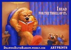 I read for the thrill of it. #reading #goldilocks #3bears #bear #artwork #bedtimestsory #picturebook #Ilovetoread