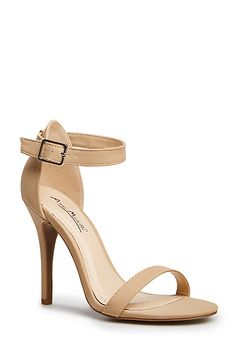 wow super cute and cheap AND available in 9 colors!  Simple Strap Heels in Nude 6.5 - 10 | DAILYLOOK