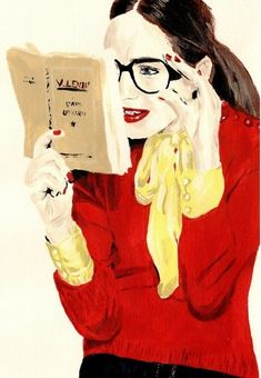 for Fashion Illustration / love on We Heart It Reading Art, Woman Reading, I Love Reading, Reading Books, I Love Books, Good Books, Books To Read, Image Avatar, People Reading