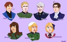 Hetalia APH Italy APH Germany APH Prussia APH Austria APH Hungary APH Switzerland APH Liechtenstein <<< so... the Germanic family