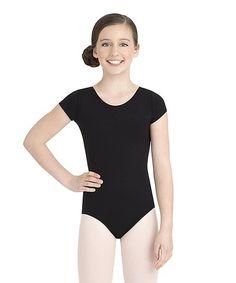 5131beea1c3 Capezio Black Short-Sleeve Leotard - Toddler   Girls