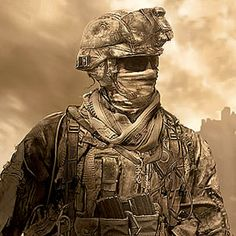 This character from Call of Duty is a male character because in the game the characters doing the fighting are male.