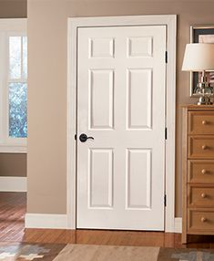 6 Panel Molded Design Interior Door For Traditional Or Transitional Interior