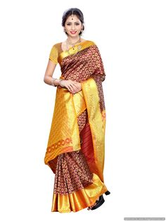 34b85e85293433 Mimosa Women Kanchipuram Art Silk Saree With Handwork Blouse (pink