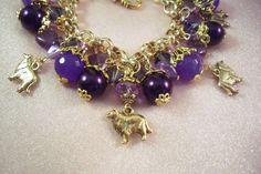 SHELTIE - Collie- ap21 - Free Shipping - Charm Bracelet-Dog - Free Gift  -  Handmade by USA Artisan - Last One by HOBBYHORSELADY on Etsy