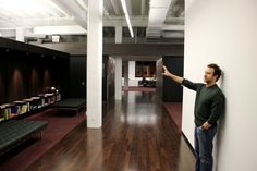 Hey, it's 37signals founder Jason Fried, showing us the space