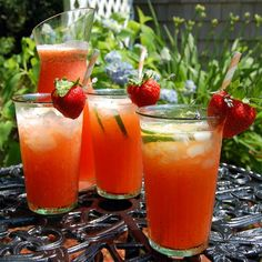Strawberry-Lavender Limeade is perfect for the long weekend - with or without an little vodka thrown in!