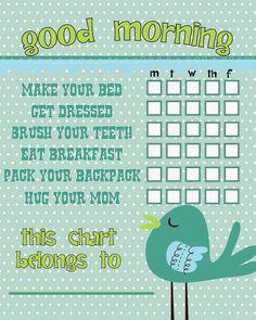 Teeth & Chore Charts for {Winter}! - Shes {kinda} Crafty