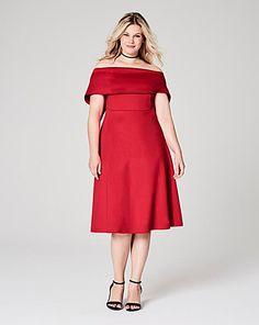 Bardot Skater Dress   Simply Be