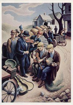 То́мас Гарт Бе́нтон (Thomas Hart Benton; 1889-1975) - художник, представитель американского риджионализма и мурализма.