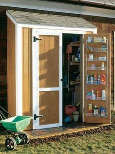 Build a New Storage Shed with One of These 23 Free Plans: Free Shed Plan to Build a Simple Shed Storage Shed Organization, Storage Shed Kits, Garden Storage Shed, Attic Storage, Small Storage, Organizing, Shed Construction, Large Sheds, Simple Shed