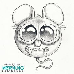 Round Mouse! ⚪️ #morningscribbles | par CHRIS RYNIAK
