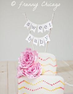 BABY SHOWER CAKE Topper  It's a girl Cake Topper  by FrannyChicago, $16.99
