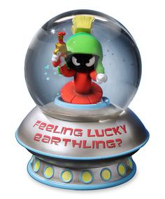 This Marvin Martian 'Feeling Lucky' Snow Globe is perfect! #zulilyfinds