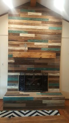 Reclaimed wood fireplace surround chipboard osb framing | House ...