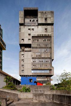 mesoamerican brutalism: Caja Costarricense de Seguro Social, San Jose, Costa Rica. Architect: Alberto Linner.