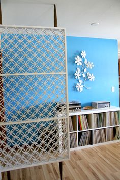 DIY Room divider mid-century style - Tutorial (I want this to be my headboard. Let's make that happen, self.)