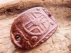 Bracelet Bar - Ceramic - Cinnamon Brown - Oval - Earthy, Rustic, Organic - Handmade Art Beads L10