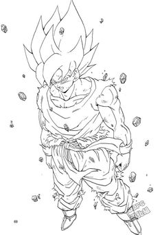 Hand Drawing Reference, Line Drawing, Manga Coloring Book, Coloring Pages, Dbz Drawings, Goku Pics, Manga Dragon, Pink Trees, Son Goku