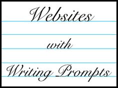 The writing prompts on these sites are a good source of inspiration for your child or teen.