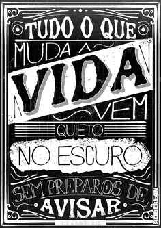 Guimares Rosa Quote by Roberlan Borges, via Behance