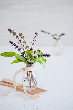 simple: flower and herbs