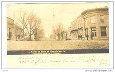 RP; North on Main Street, GRANDVIEW , Iowa, PU-1910