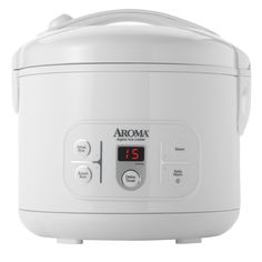 Aroma Housewares ARC-996 6-Cup (Uncooked) 12-Cup (Cooked) Digital Rice Cooker and Food Steamer, White