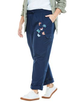 Woman Within Pants with Convertible Length - Women's Plus Size Clothing